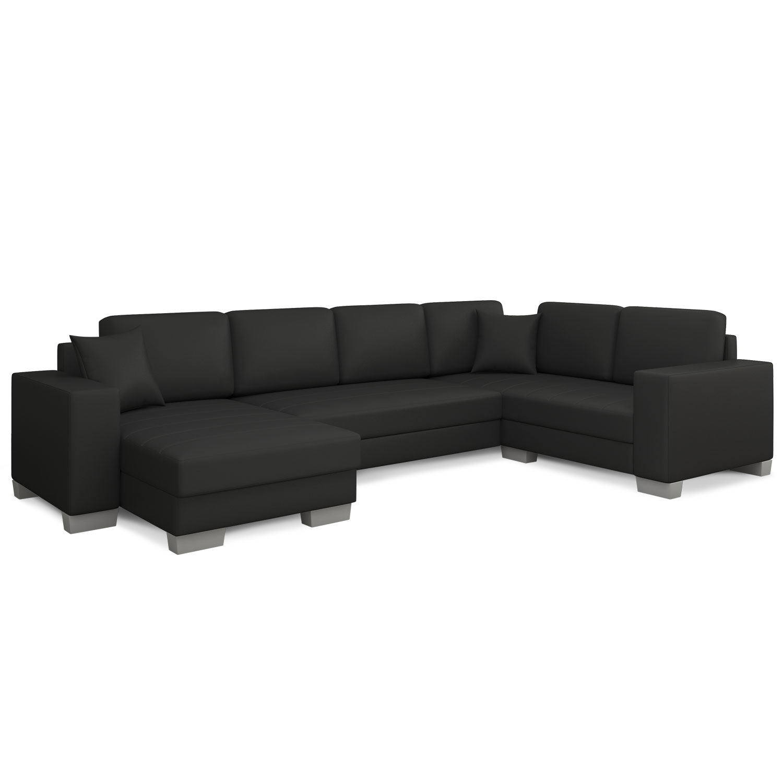 Canapé d'angle convertible Marcos Simili Noir