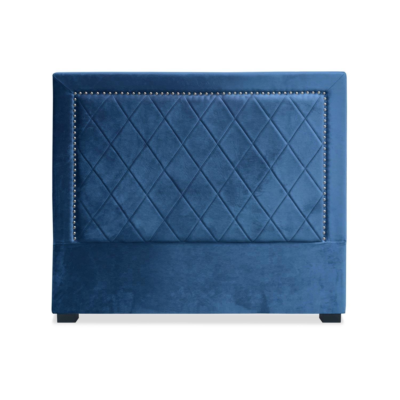 Tête de lit Meghan 140cm Velours Bleu