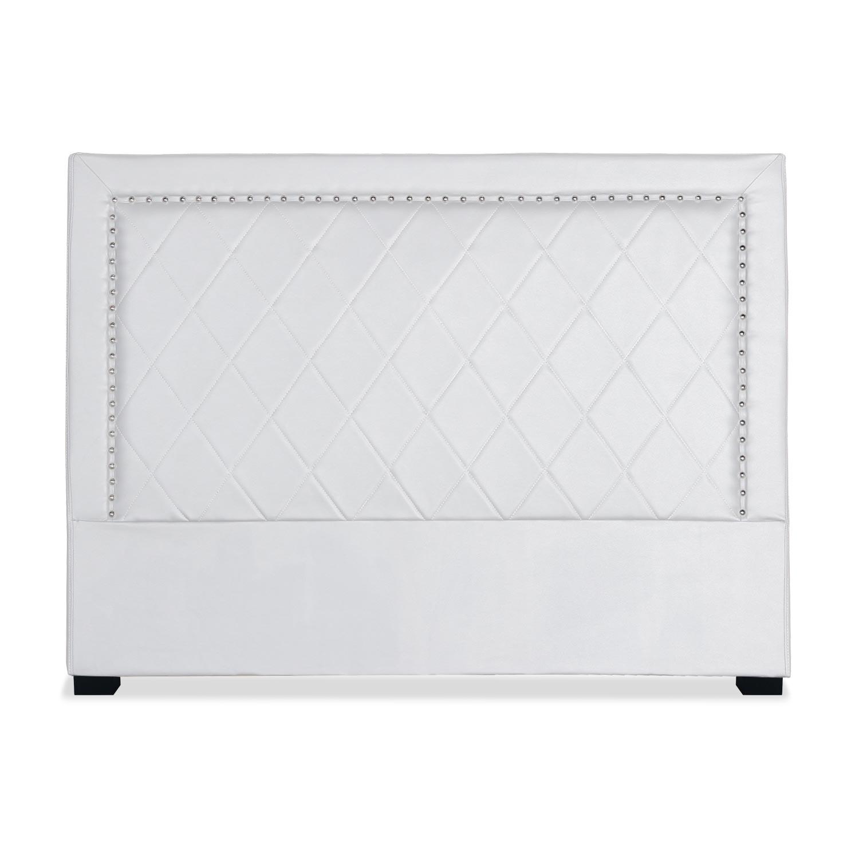Tête de lit Meghan 160cm Simili P.U. Blanc