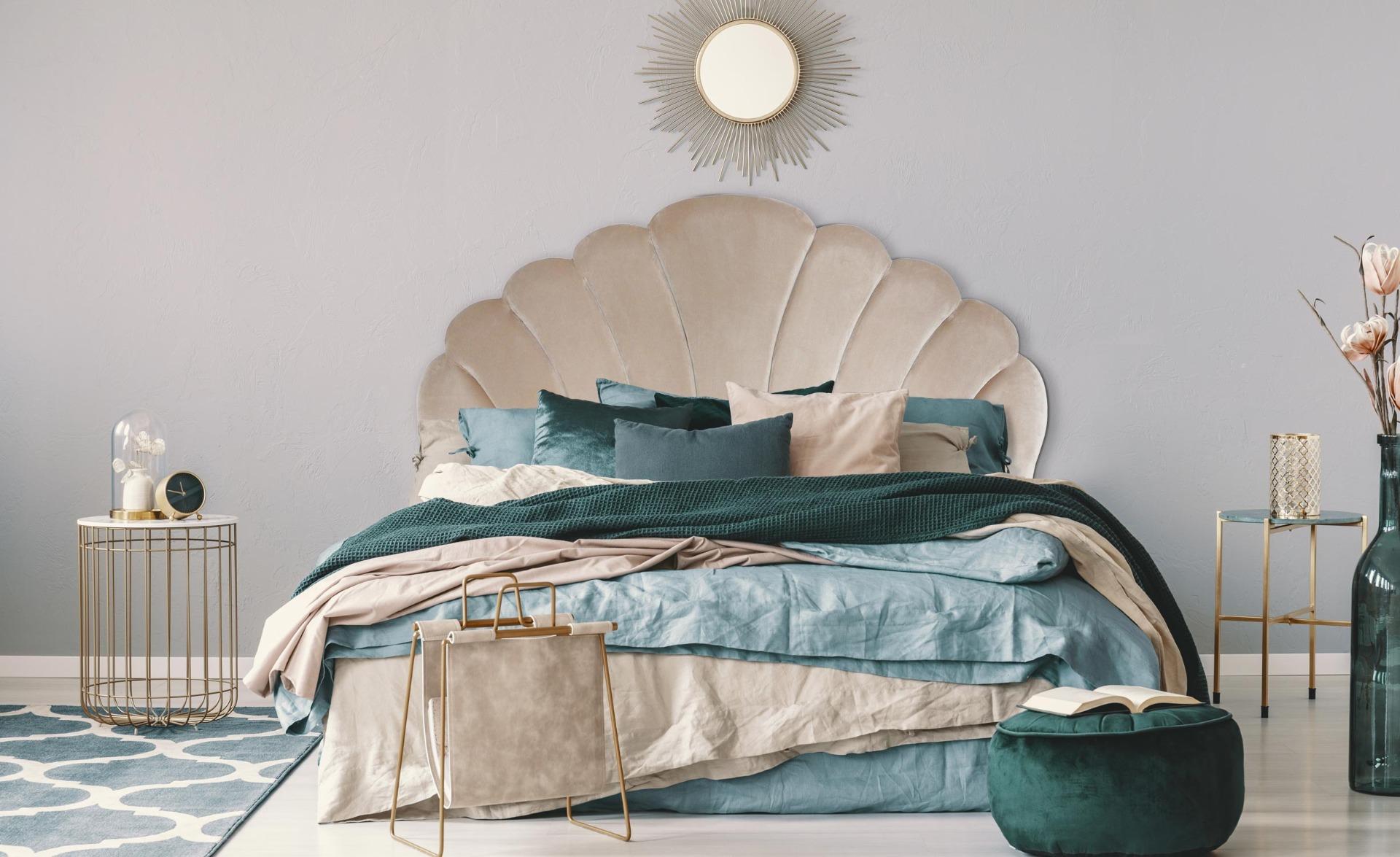 Tête de lit Mermaid 160 cm Velours Taupe