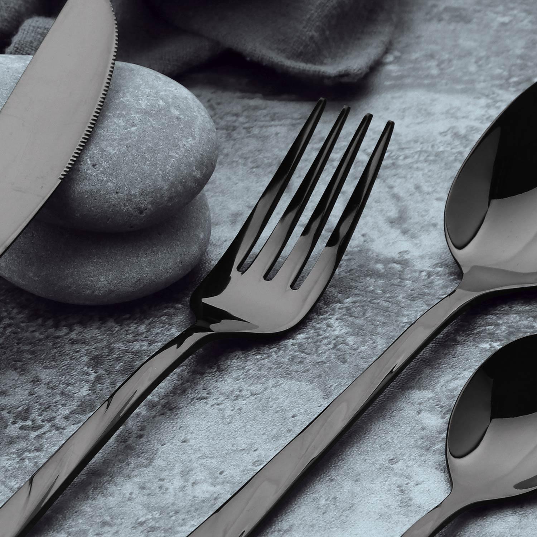 Set de 24 couverts en Inox Minarc Noir