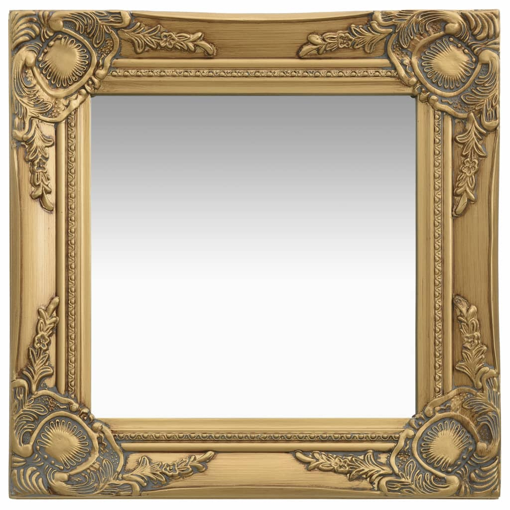 Miroir mural carré Charlemagne 40x40cm Or