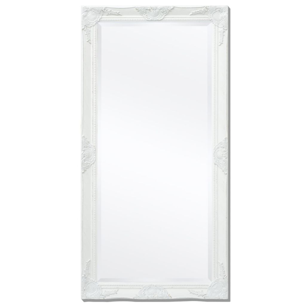 Miroir mural rectangulaire Charlemagne 120x60cm Blanc