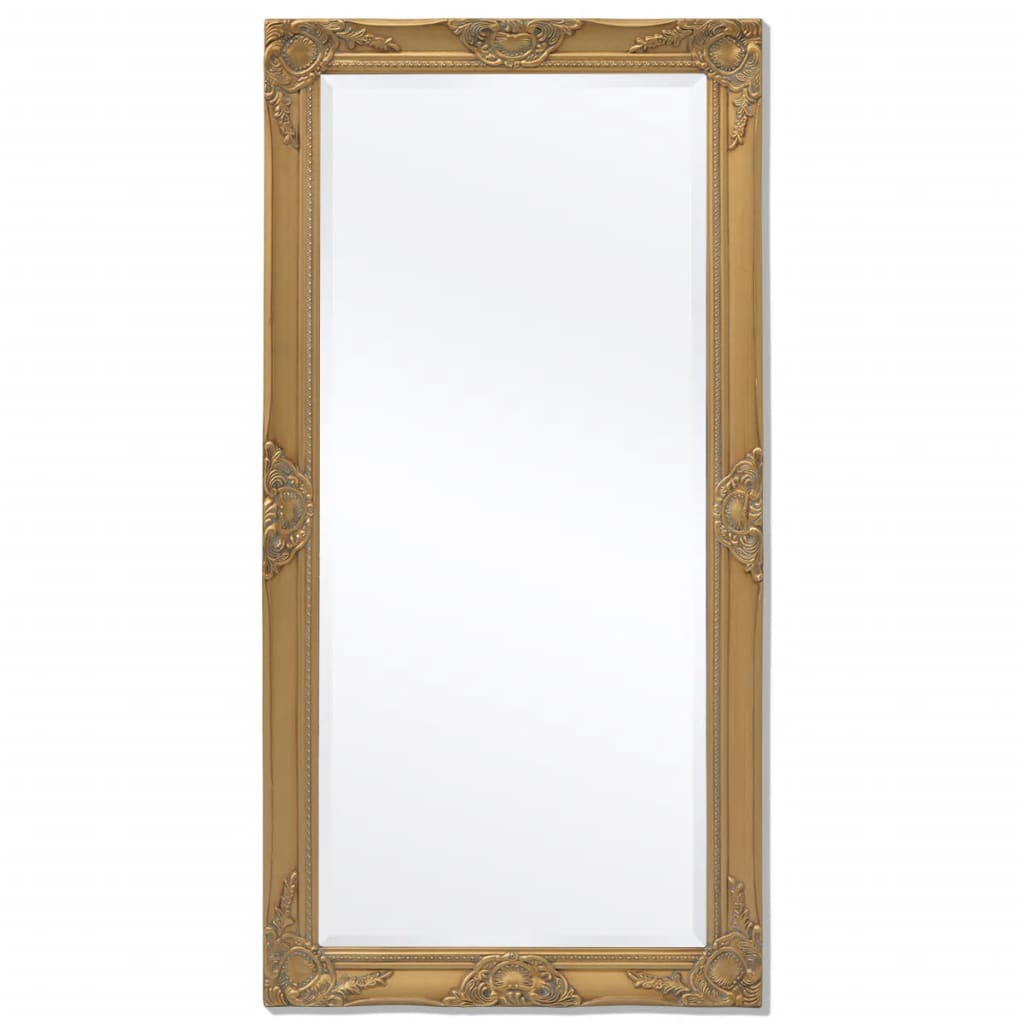 Miroir mural rectangulaire Charlemagne 120x60cm Or
