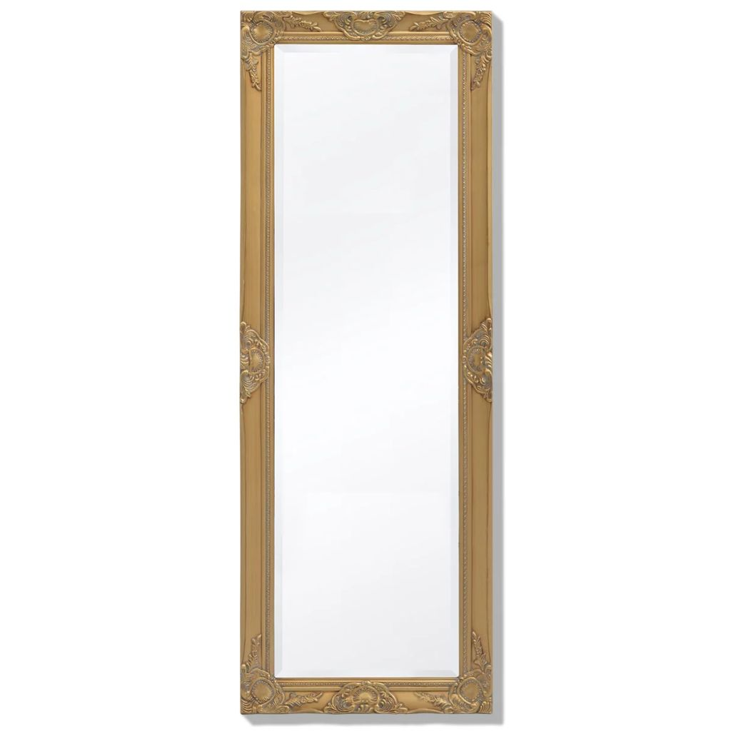 Miroir mural rectangulaire Charlemagne 140x50cm Or