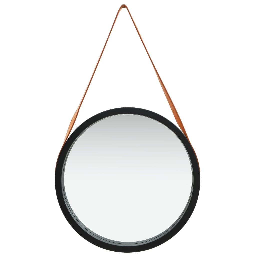 Miroir mural ronde avec sangle Cyclope D50cm Noir