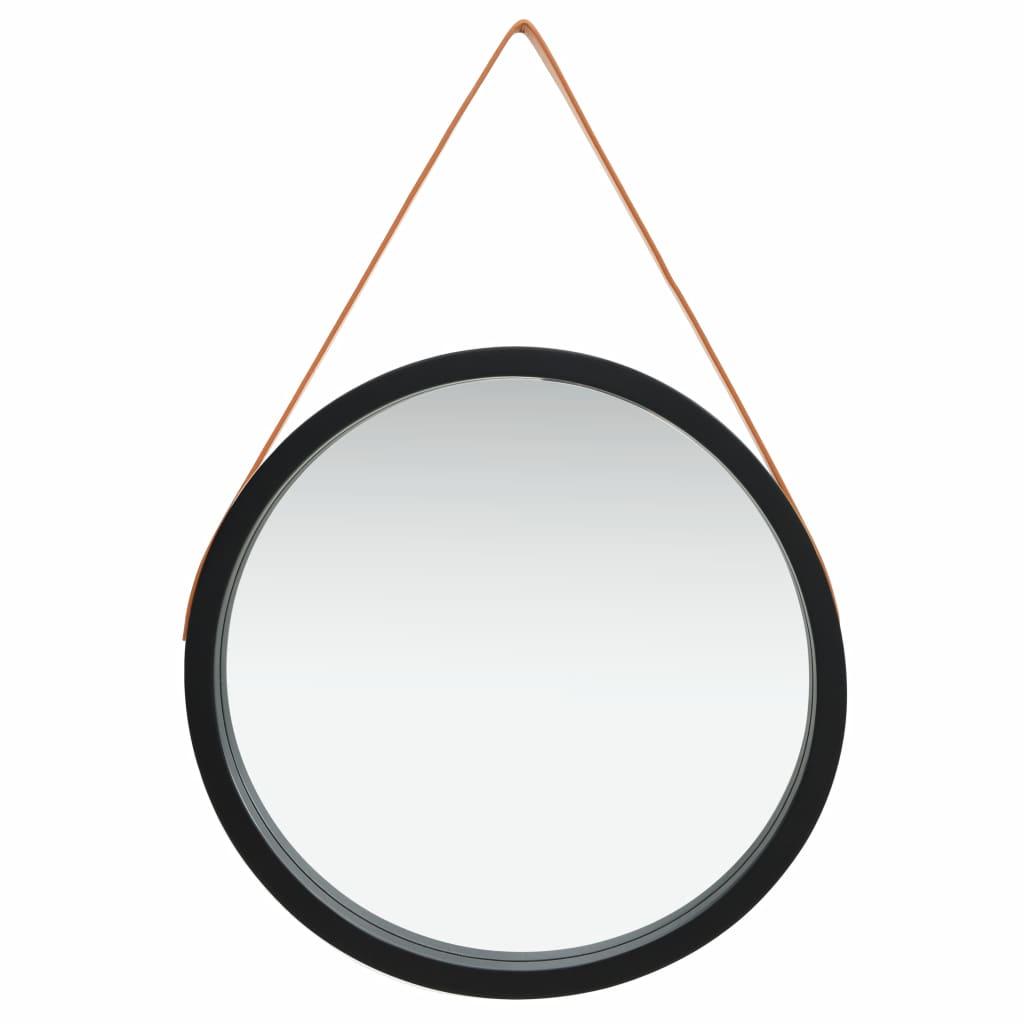 Miroir mural ronde avec sangle Cyclope D60cm Noir