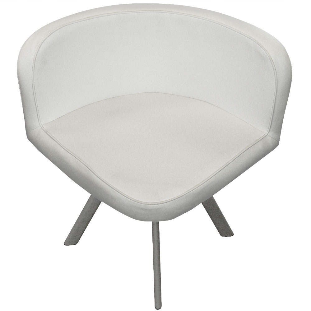 Table et chaises Mosaic 90 Blanc
