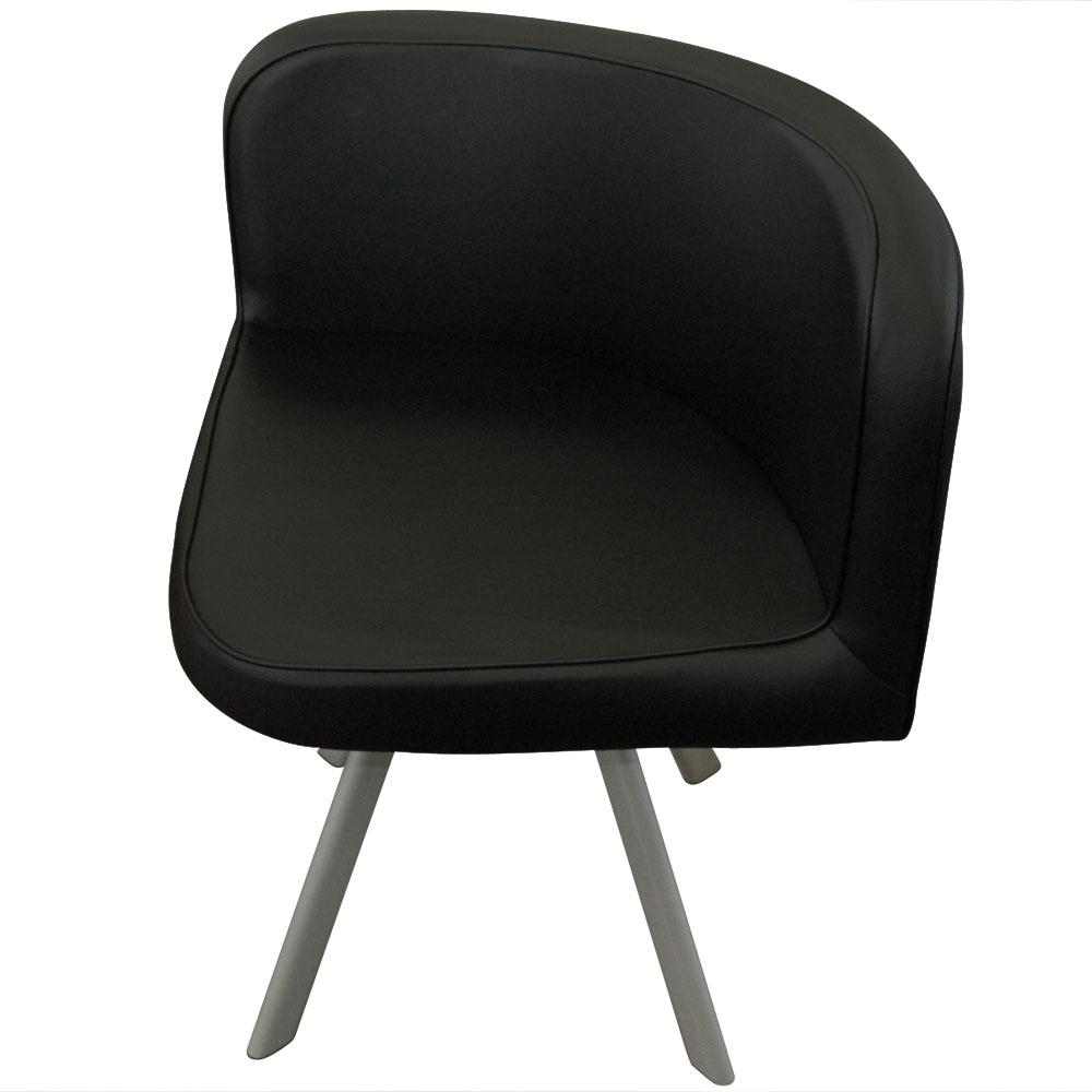 Table et chaises Mosaic 90 Blanc et Noir