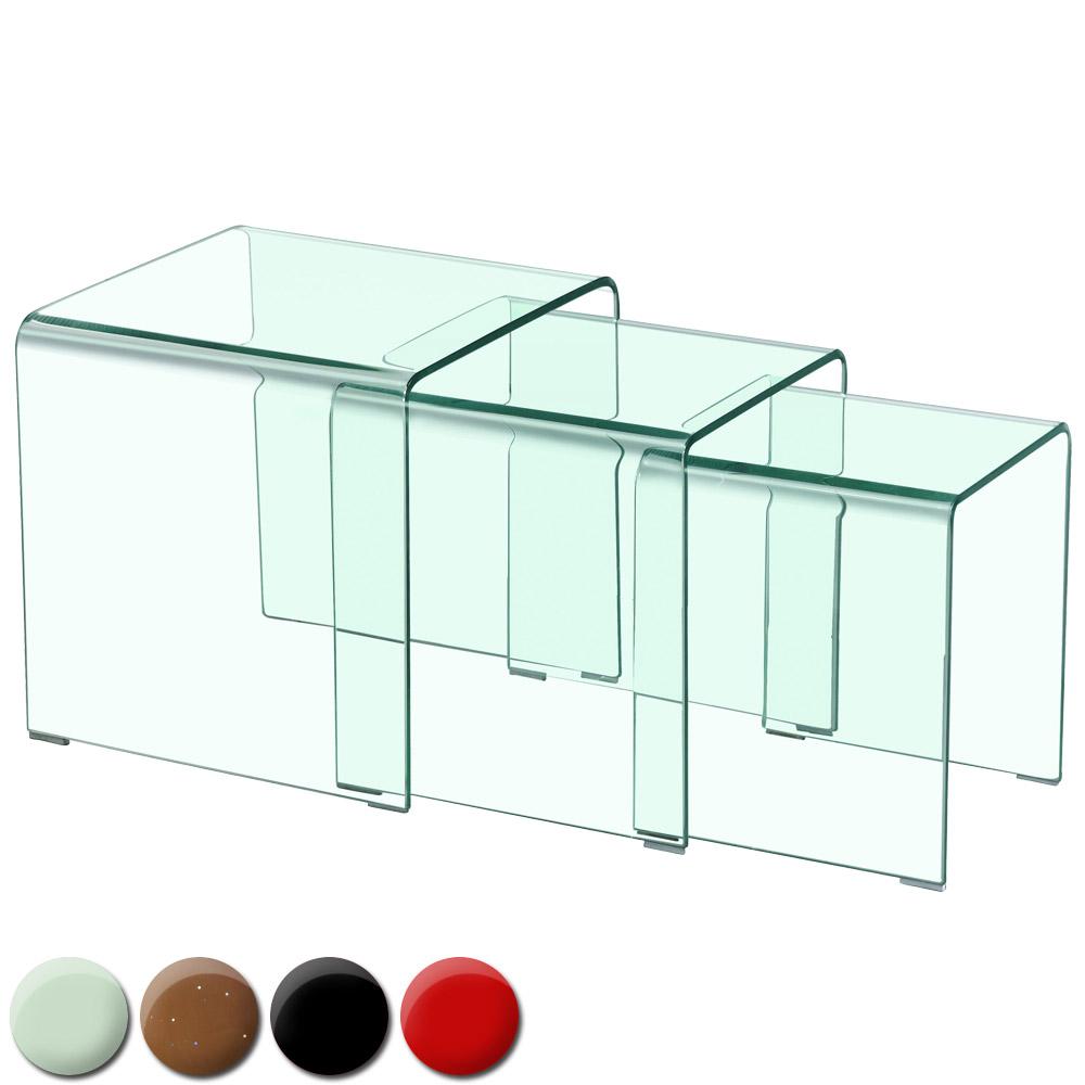 Table basse gigogne Verra Transparent