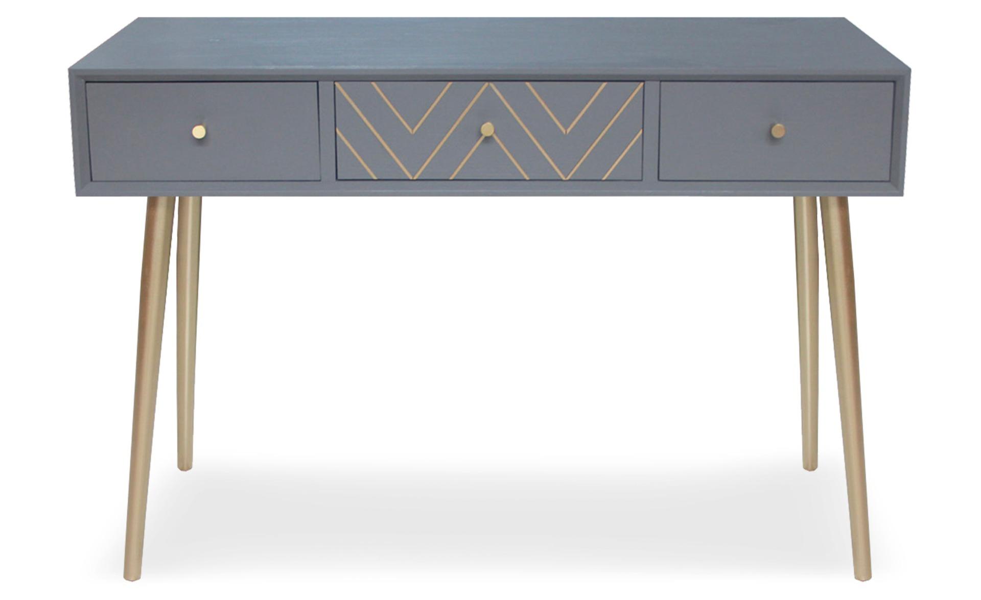 Console 3 tiroirs Mulroy Gris