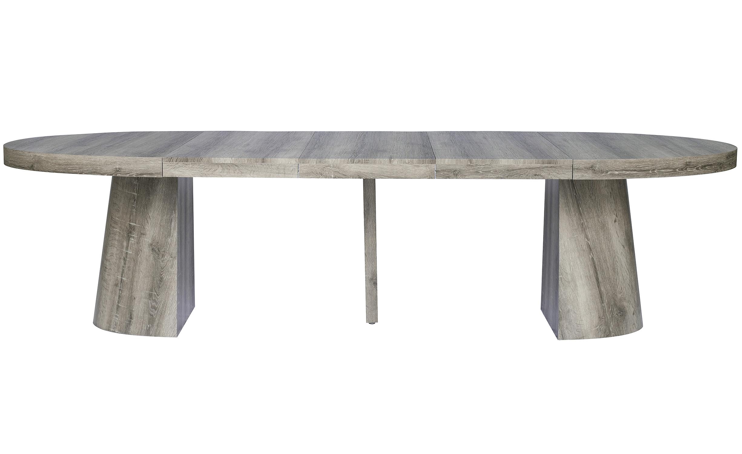 Table ovale extensible Oluze Chêne Foncé