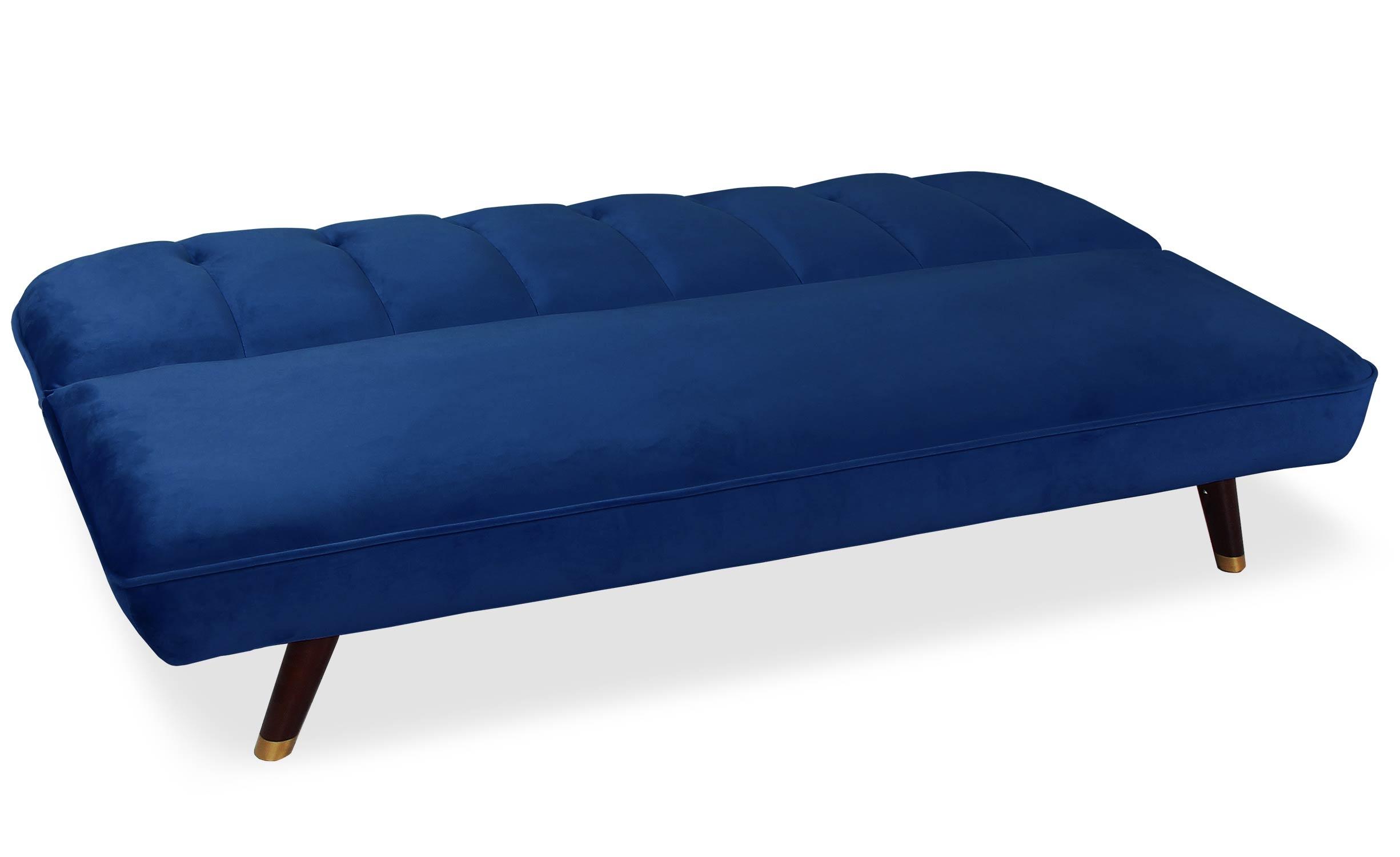 Canapé convertible clic-clac Olympia Velours Bleu