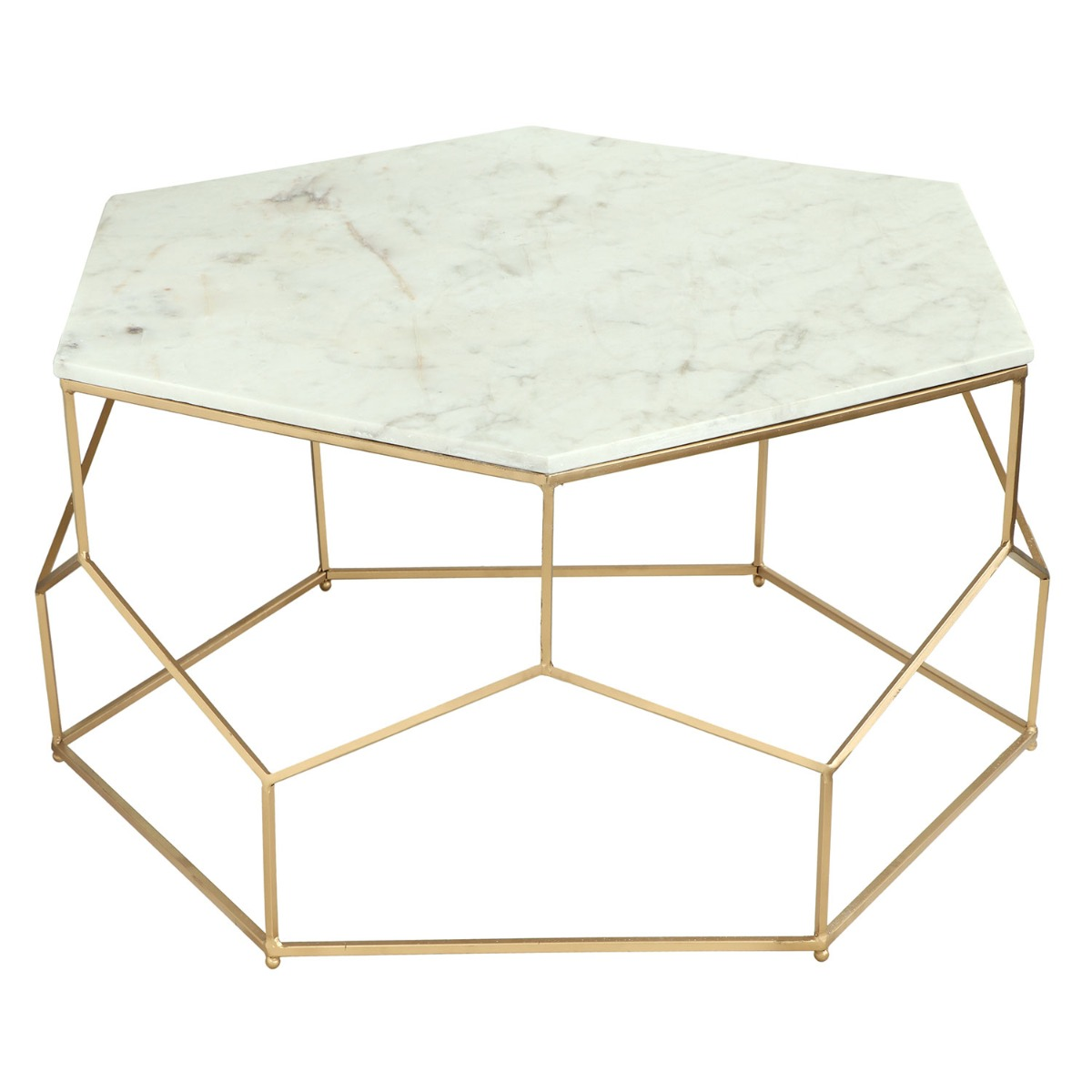 Table basse Oracle Marbre et pieds Or