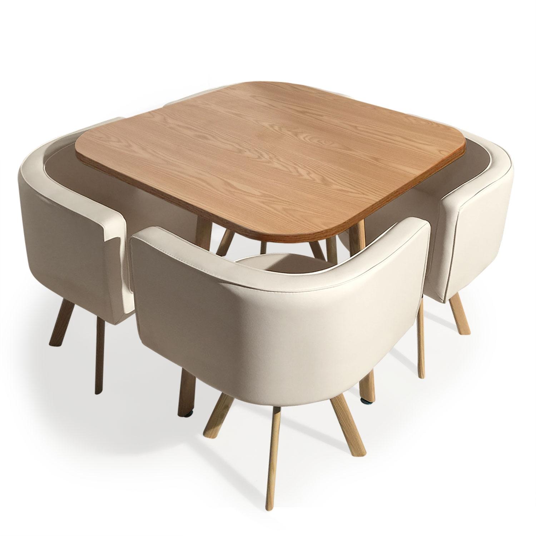 Table et chaises scandinaves Oslo Beige