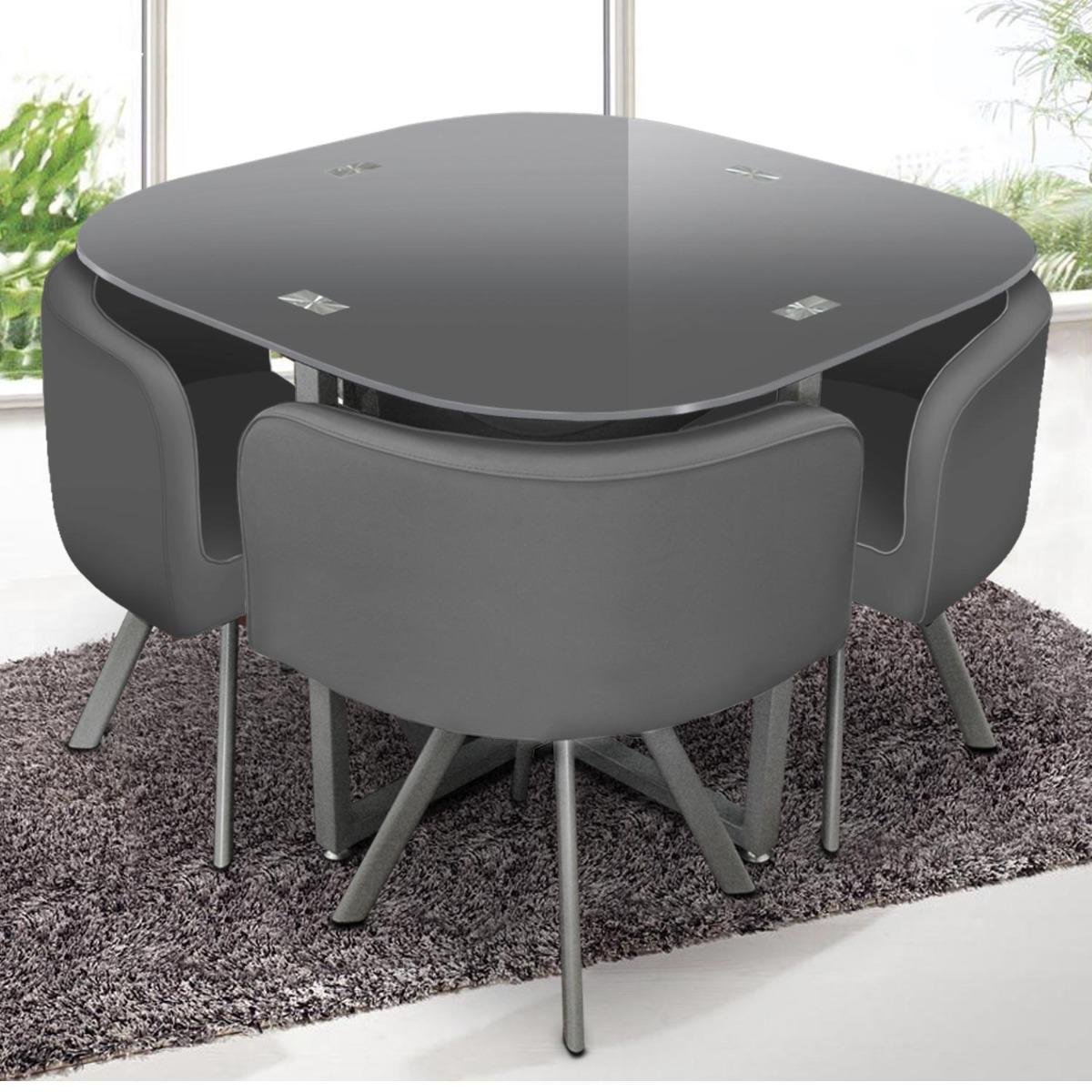 Table et chaises Mosaic 90 Gris