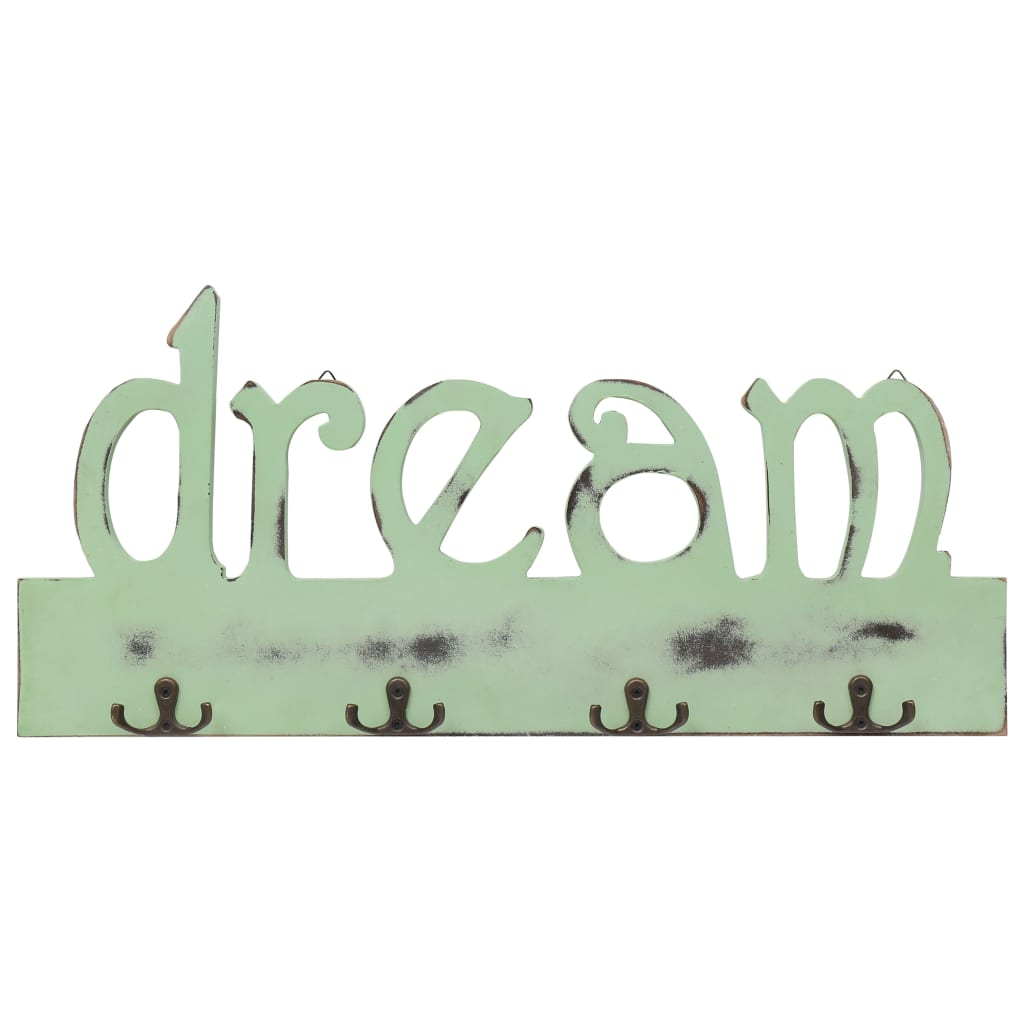 Patères murales Dream 50cm Vert