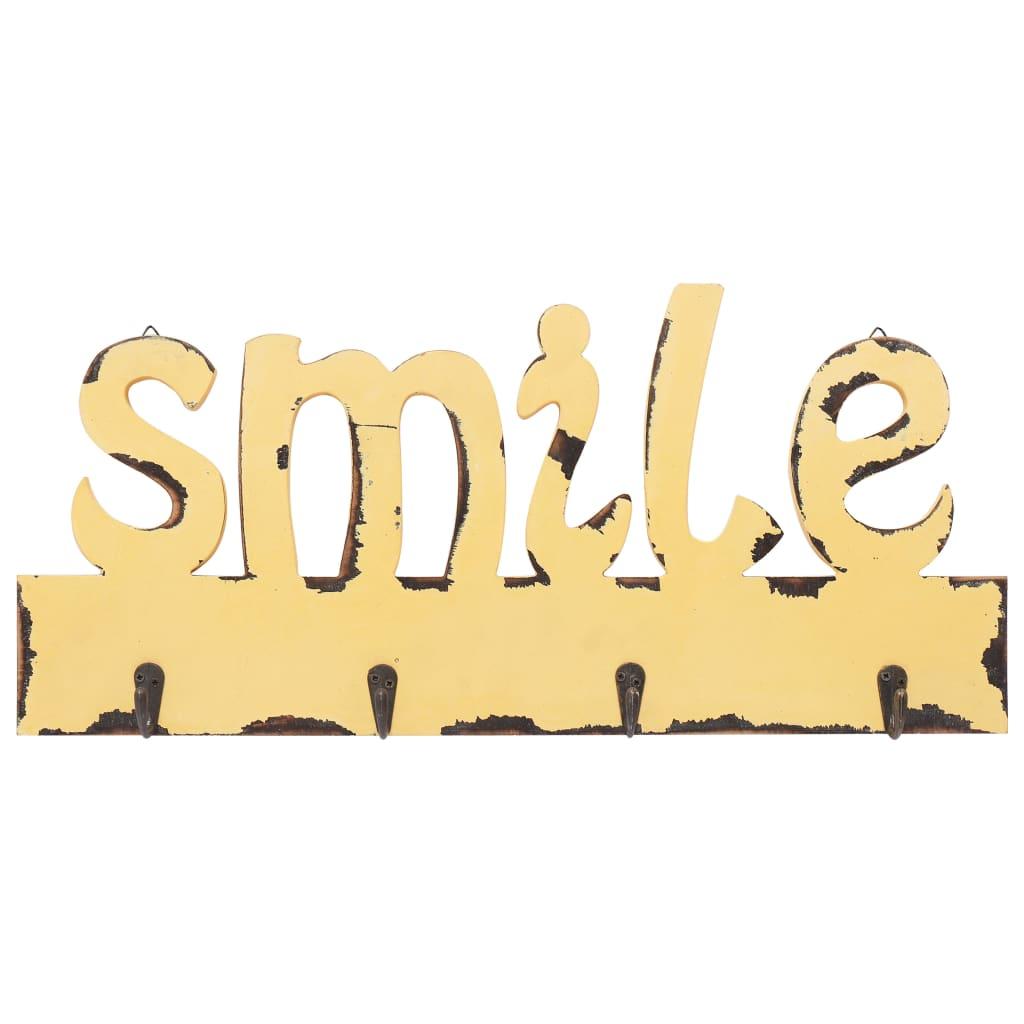 Patères murales Smile 50cm Jaune
