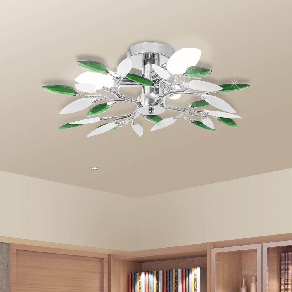 Plafonnier 3 lumières Melusine Vert
