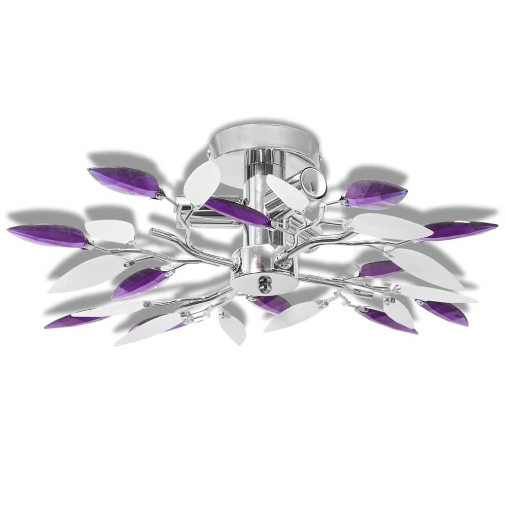 Plafonnier 3 lumières Melusine Violet