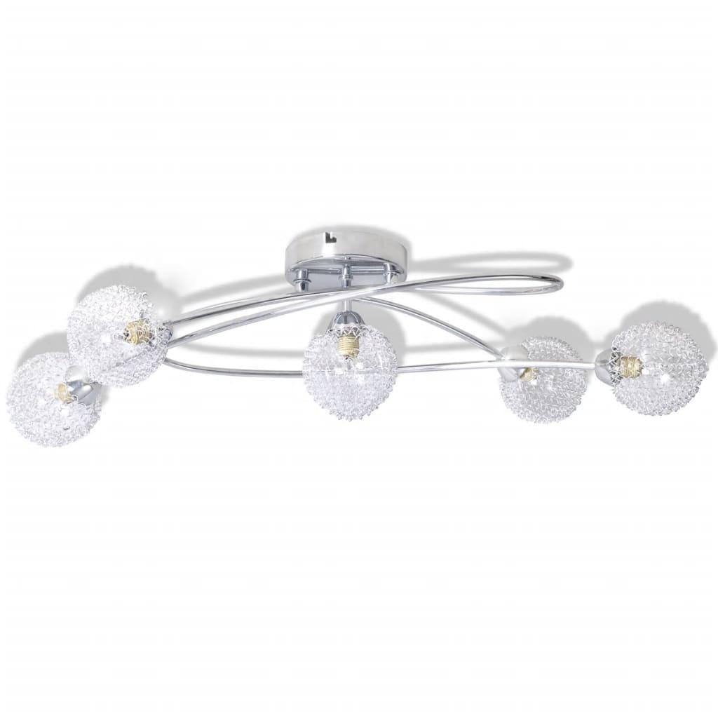 Plafonnier 5 lumières Andromak Métal Argent