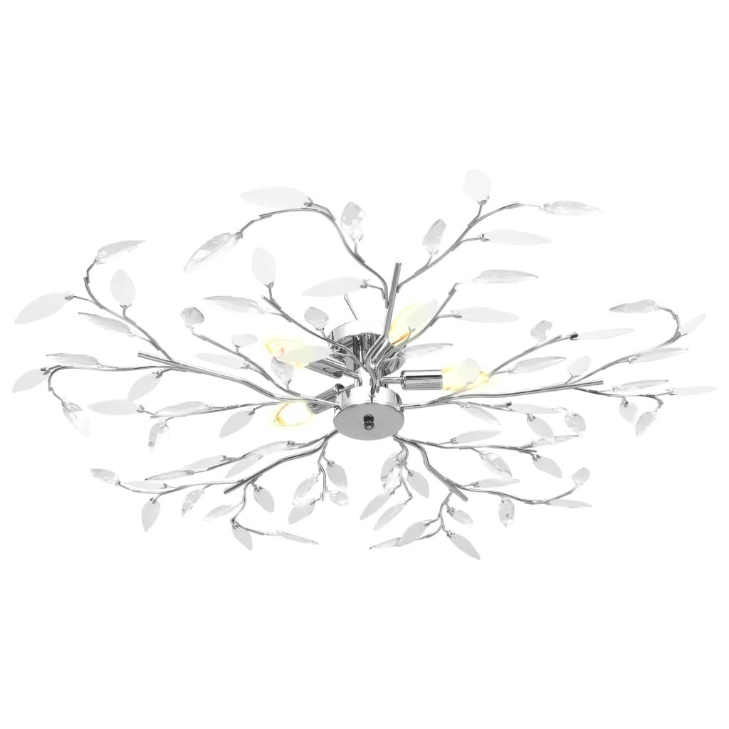 Plafonnier 5 lumières Melusine D100cm Blanc