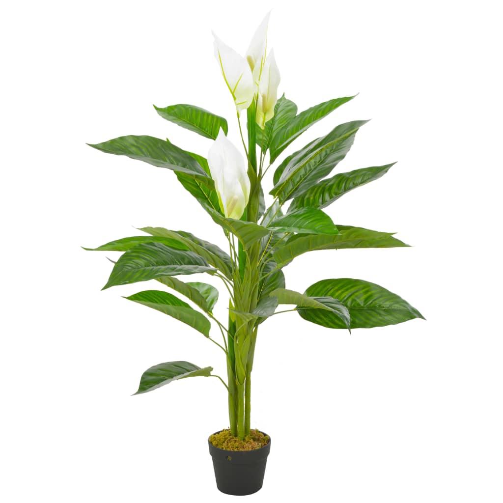 Plante artificielle Anthurium 115cm Blanc