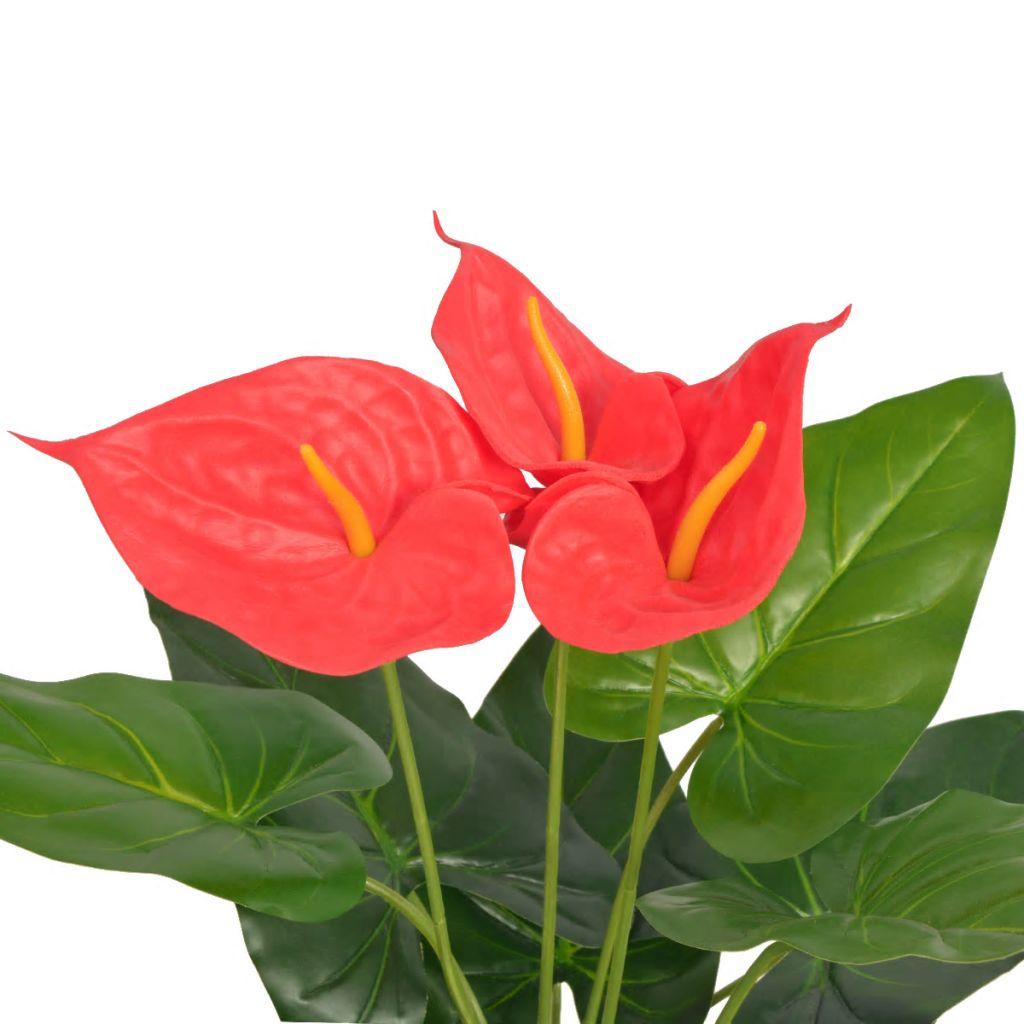 Plante artificielle Anthurium 45cm Rouge