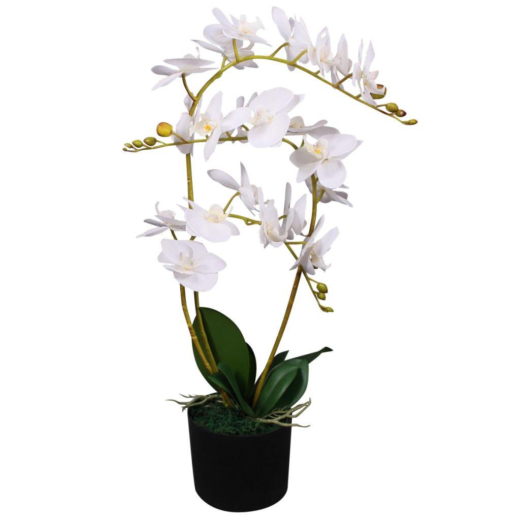 Plante artificielle Orchidée 65cm Blanc