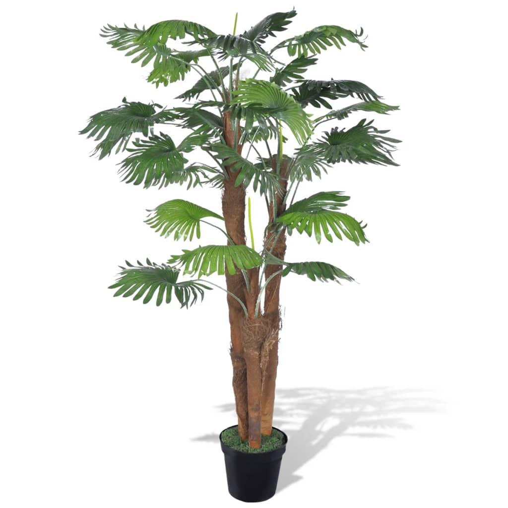 Plante artificielle Palmier éventail 180cm Vert