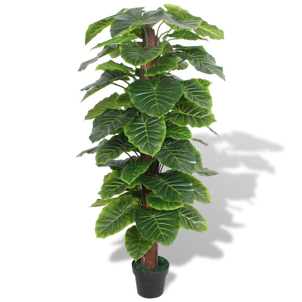 Plante artificielle Taro 145cm Vert