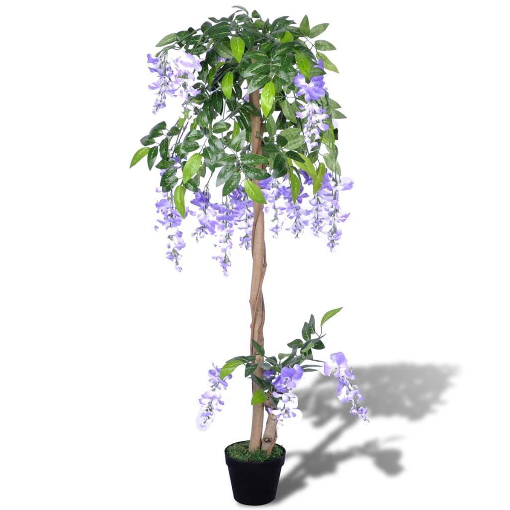 Plante artificielle Wisteria 120cm Violet