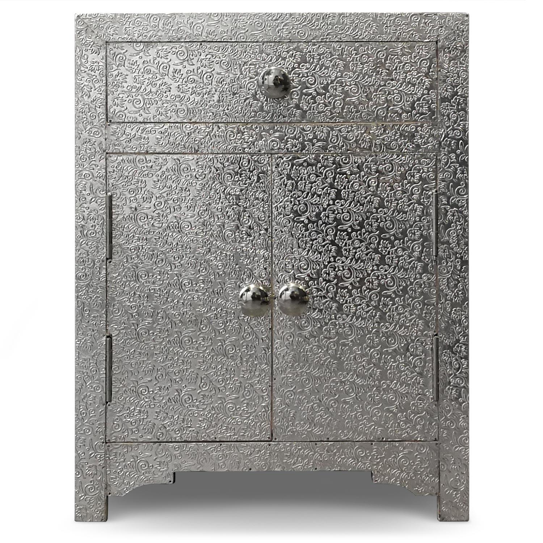 Table de chevet 1 tiroir Reverie Argent