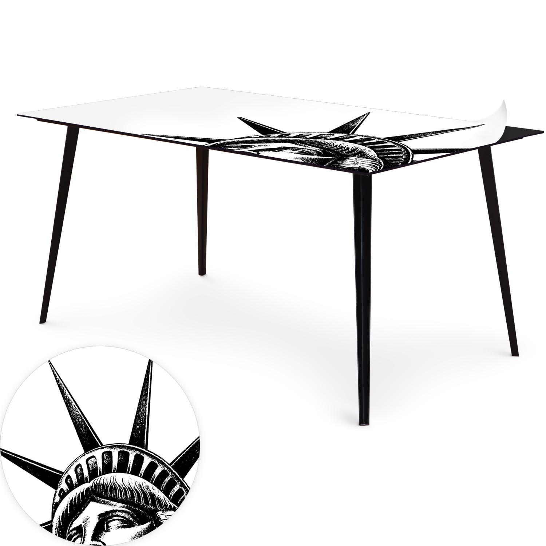 Table magnétique rectangulaire 150x90cm Bipolart Métal Noir avec 1 Top Liberty