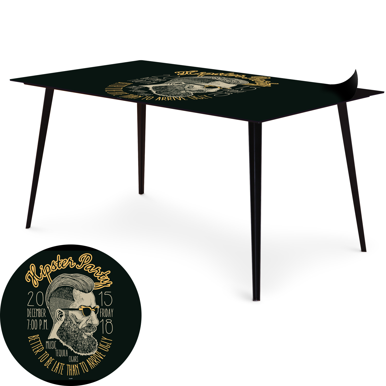 Table magnétique rectangulaire 150x90cm Bipolart Métal Noir avec 1 Top Hipster