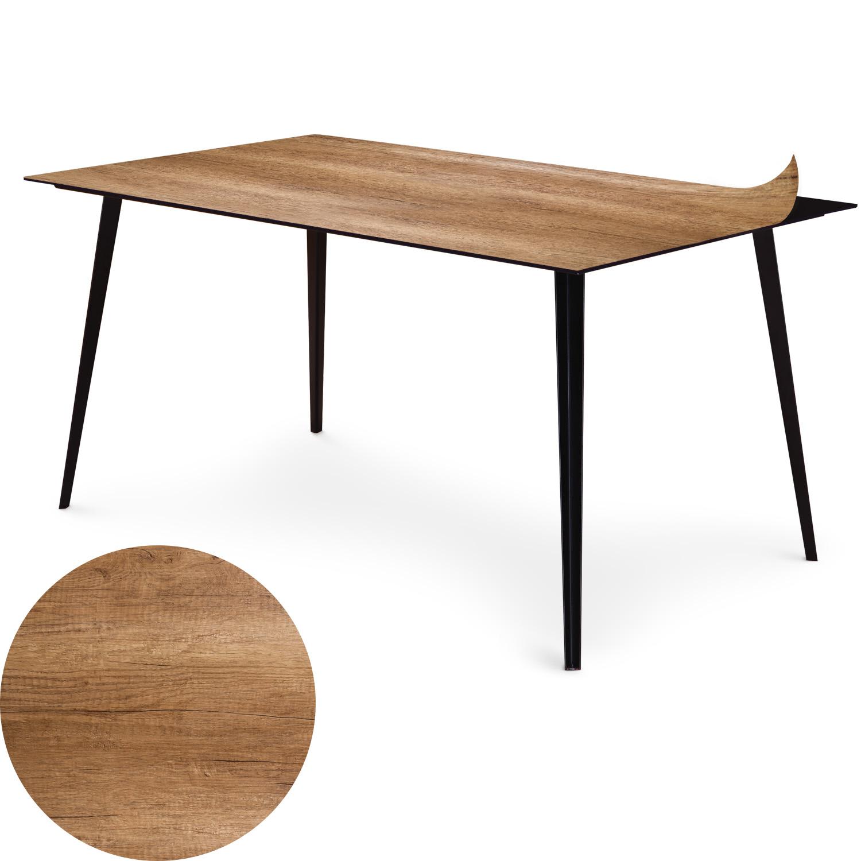 Table magnétique rectangulaire 150x90cm Bipolart Métal Noir avec 1 Top Bois