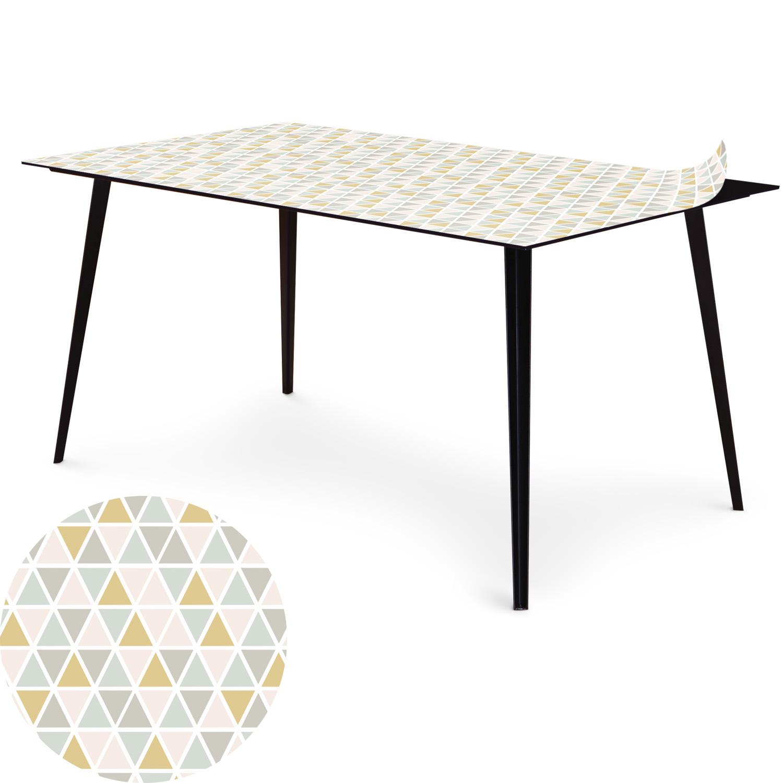 Table magnétique rectangulaire 150x90cm Bipolart Métal Noir avec 1 Top Triangles Pastels