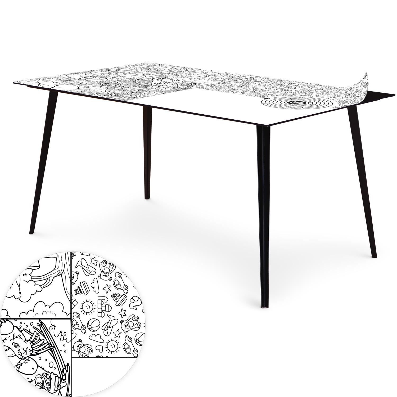 Table magnétique rectangulaire 150x90cm Bipolart Métal Noir avec 1 Top Dessin