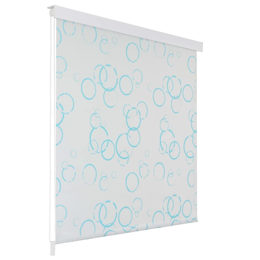 Rideau salle de bain Piloui 100x240cm Blanc Motif bulle