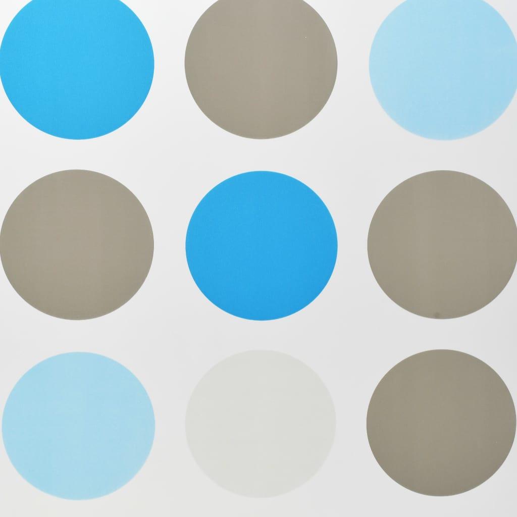 Rideau salle de bain Piloui 100x240cm Blanc Motif cercle