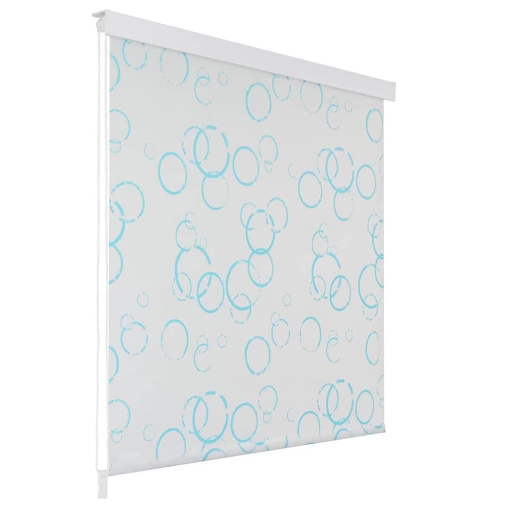 Rideau salle de bain Piloui 120x240cm Blanc Motif bulle