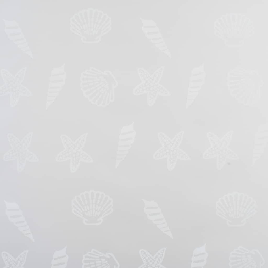 Rideau salle de bain Piloui 120x240cm Gris Motif étoile de mer