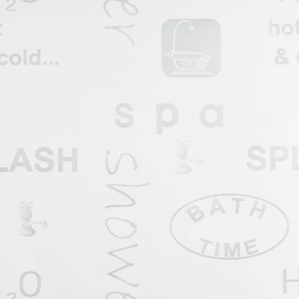 Rideau salle de bain Piloui 80x240cm Blanc Motif imprimé