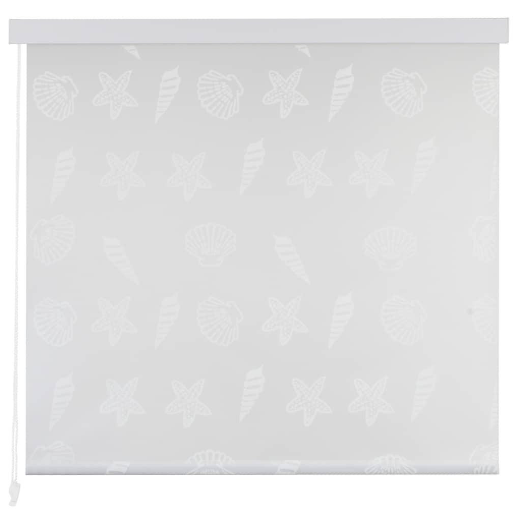 Rideau salle de bain Piloui 80x240cm Gris Motif étoile de mer