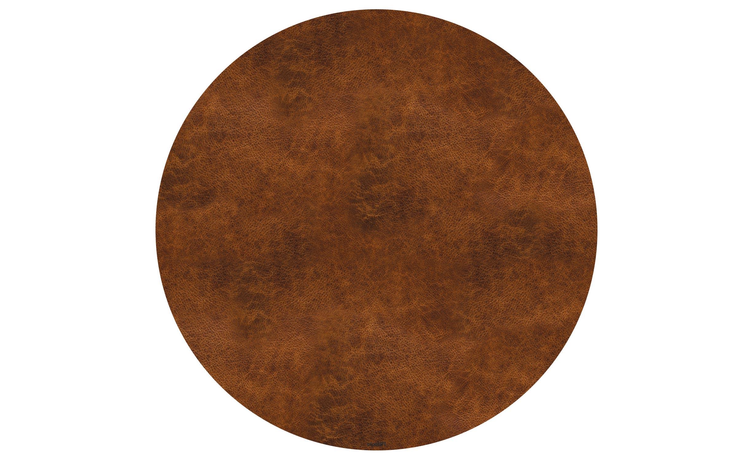 Table basse magnétique ronde 90cm Bipolart Métal Argent avec 1 Top Effet Cuir