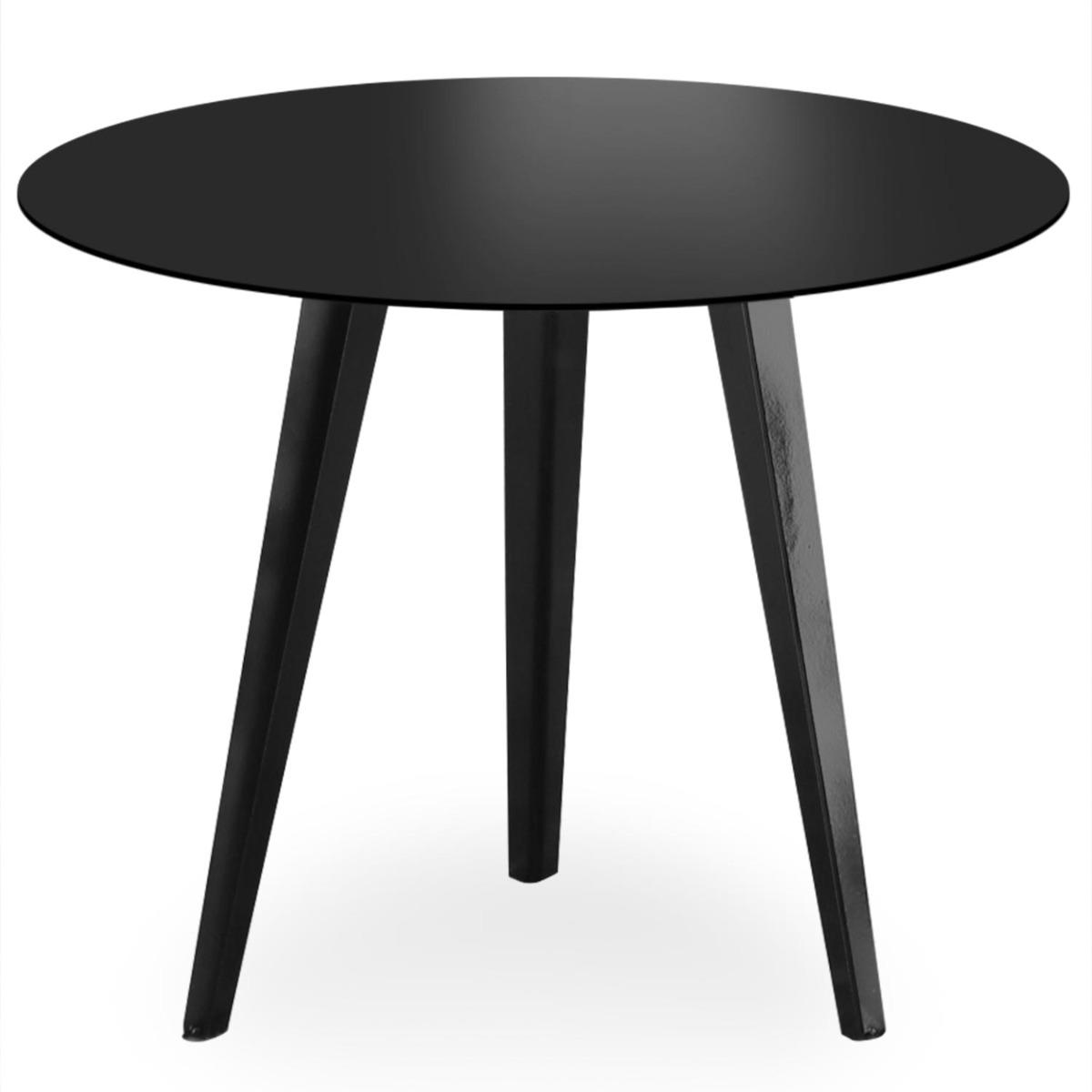 Table d'appoint magnétique ronde 45cm Bipolart Métal Noir
