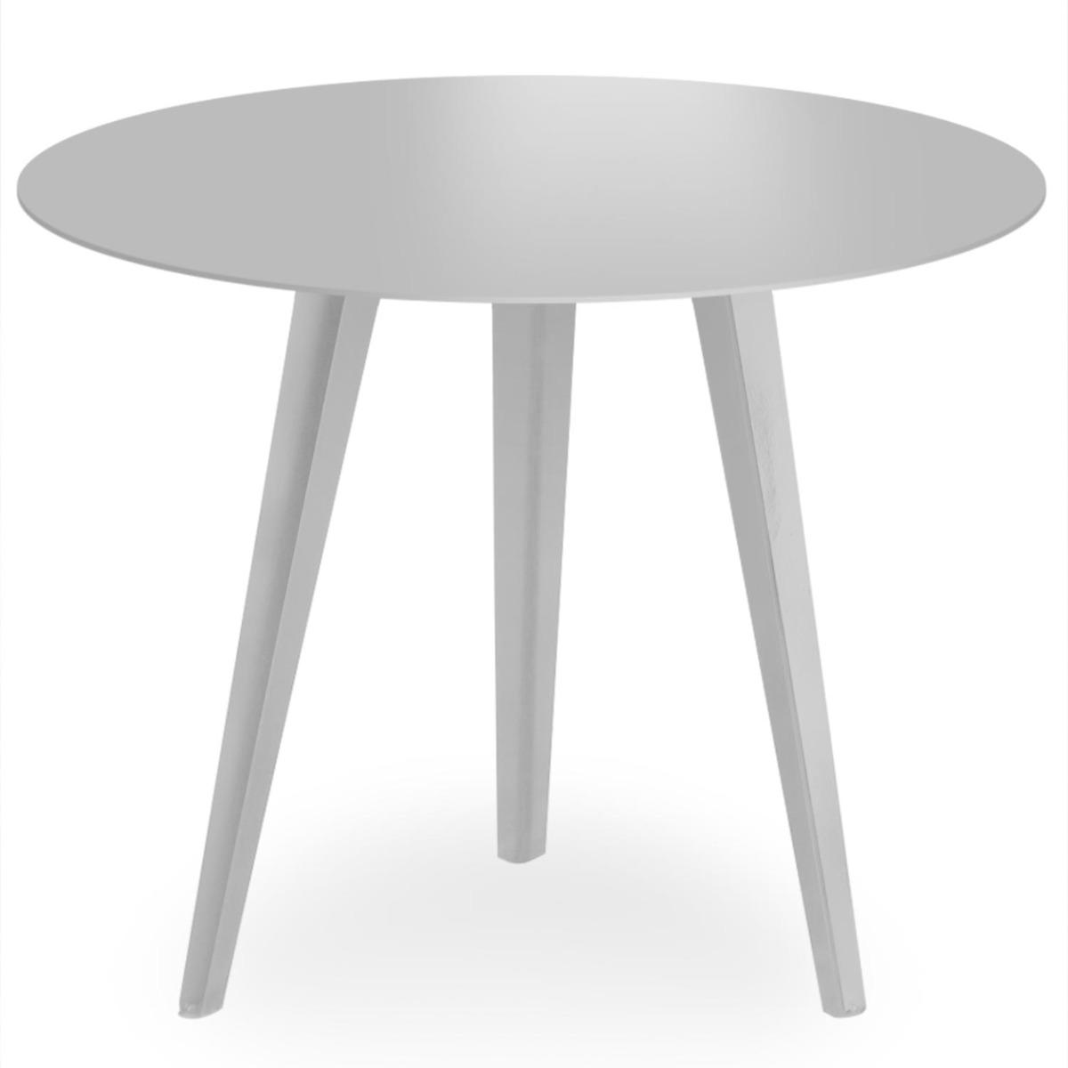 Table d'appoint magnétique ronde 45cm Bipolart Métal Argent