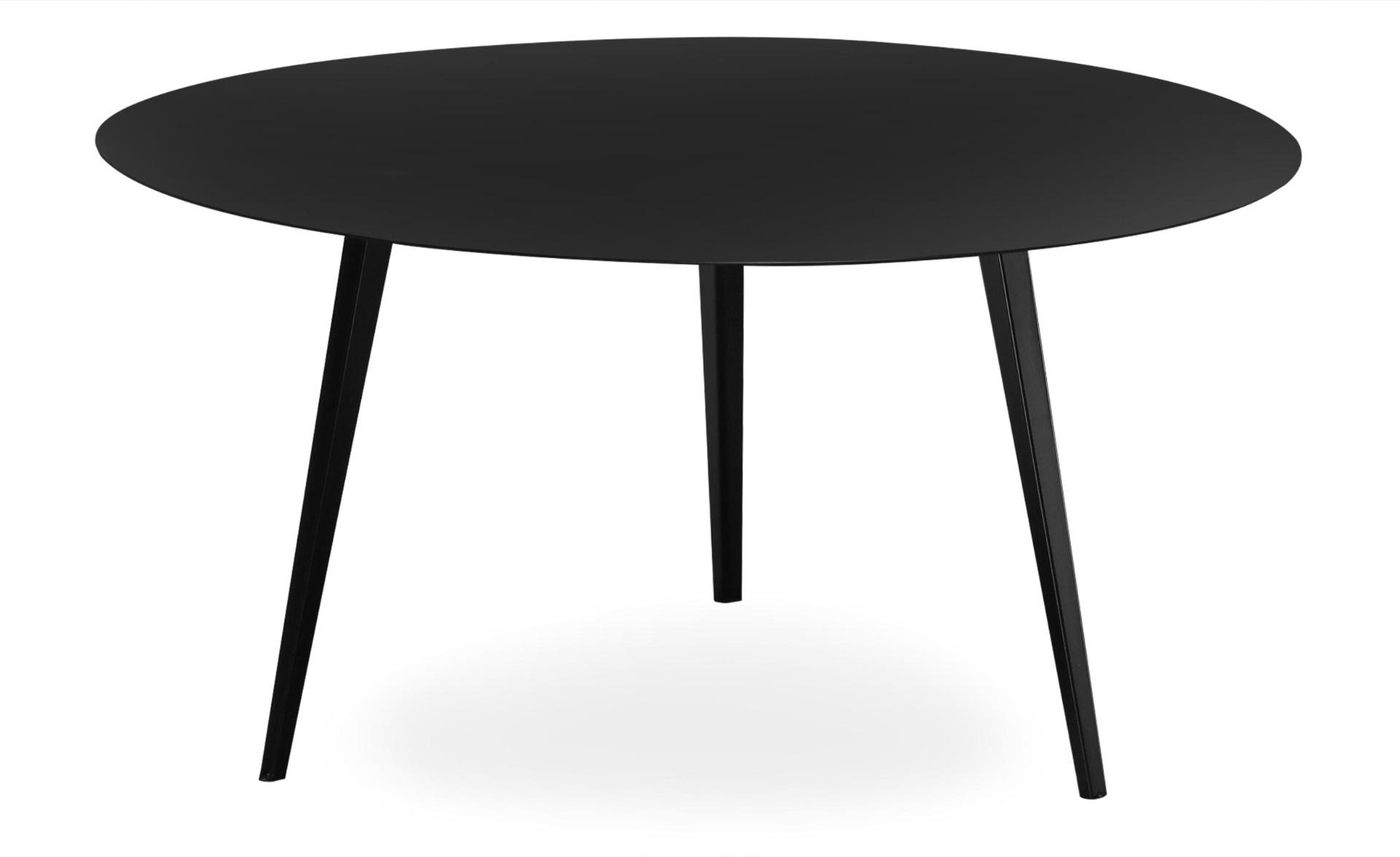 Table basse magnétique ronde 90cm Bipolart Métal Noir