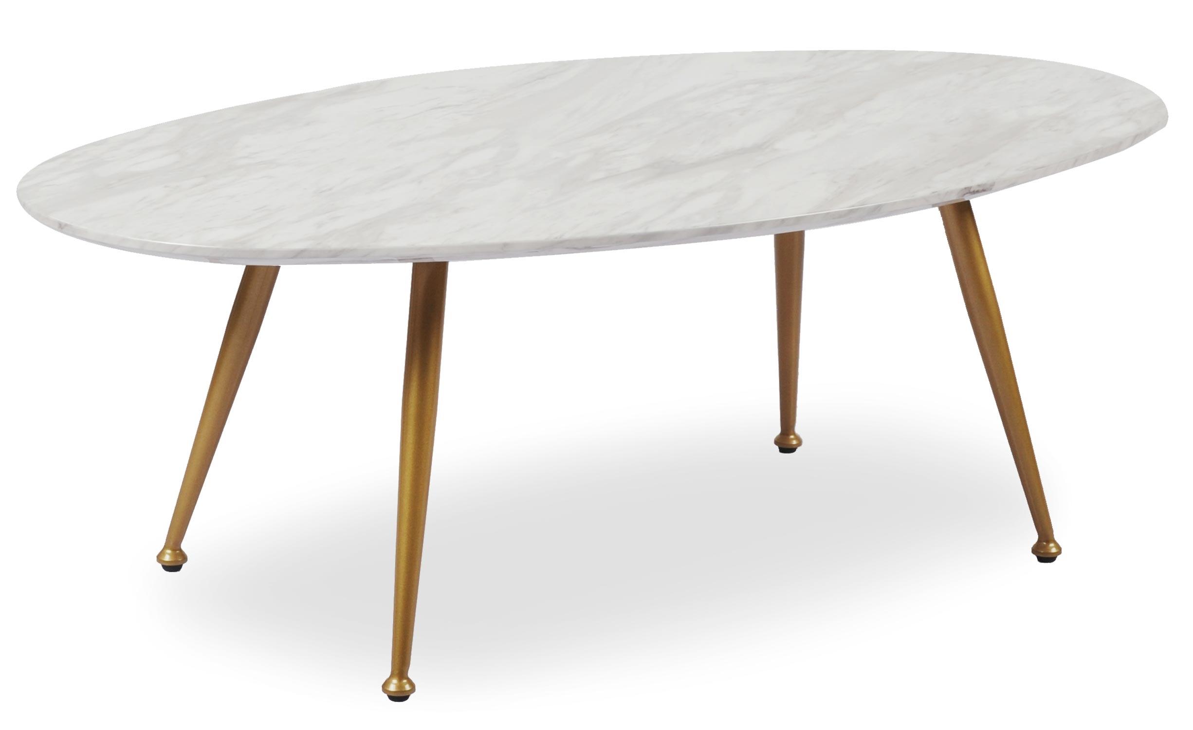 Table basse ovale Romy Effet Marbre