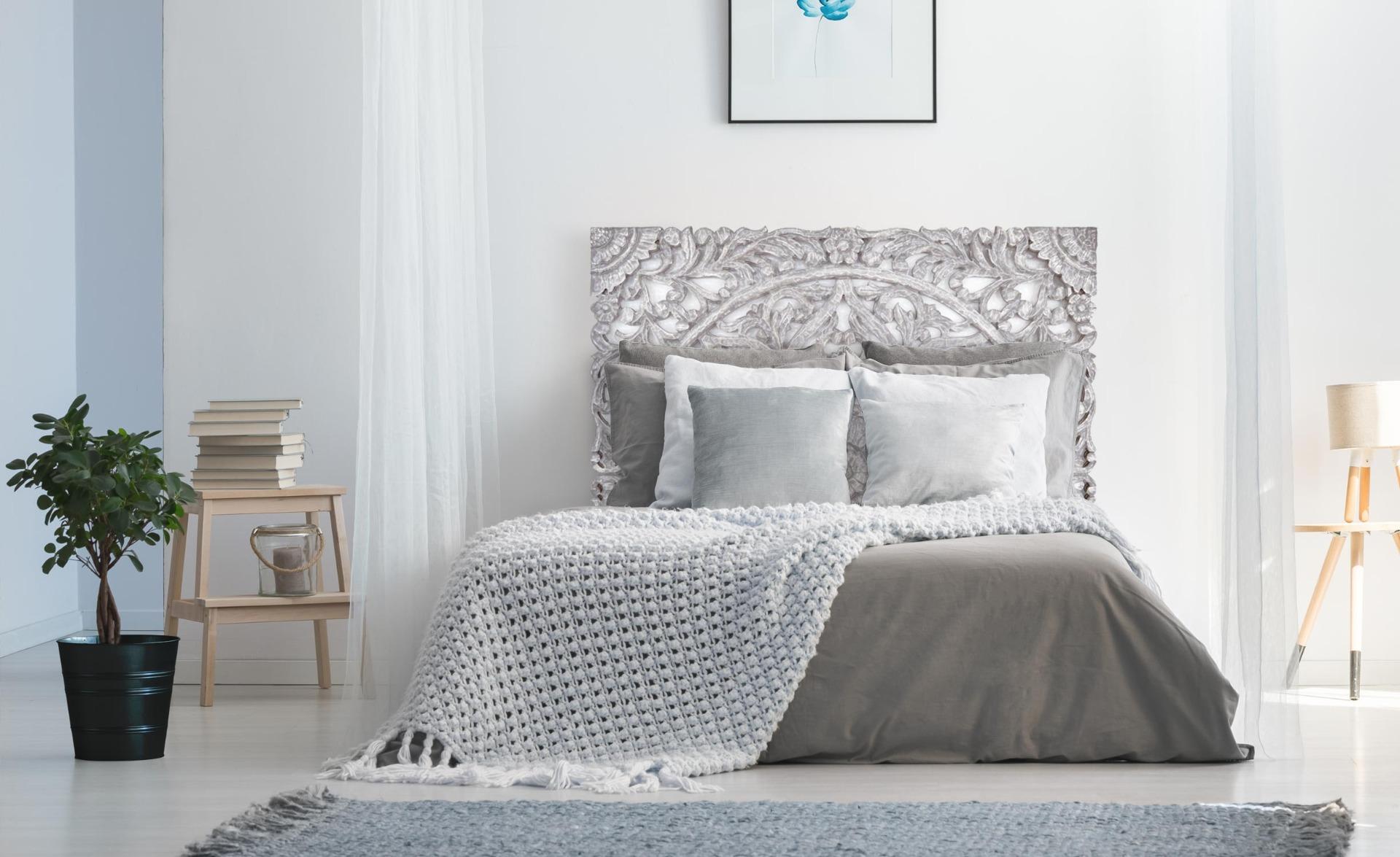Tête de lit Serena 140cm Argent